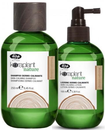 Pachet cu actiune dermo-calmanta Keraplant Nature: sampon + lotiune