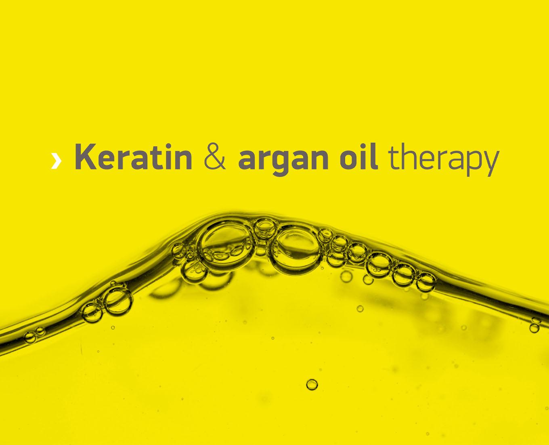 Îngrijire cu keratină și ulei de argan